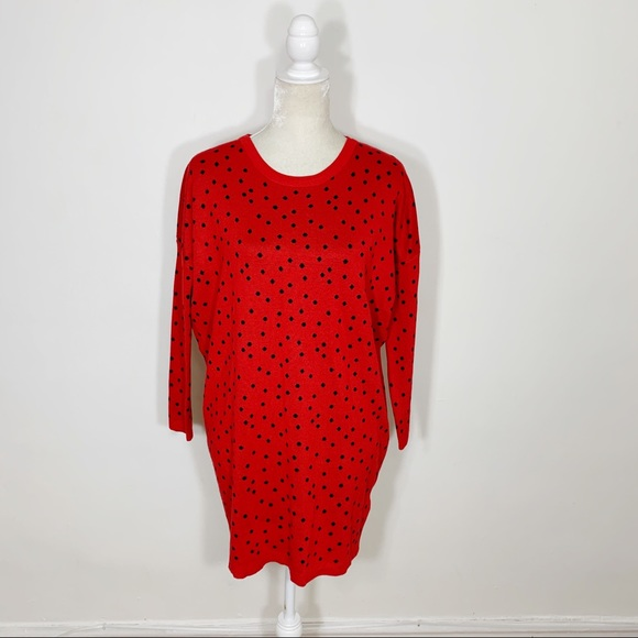 ASOS Willow & Paige red polka dot sweater dress